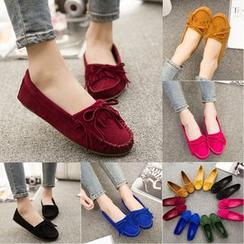 Shamrock Shoes - 散边蝴蝶结乐福鞋