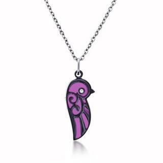 Kenny & co. - Enamel Lovebird Necklace (Small)