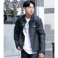 ABOKI - Stitched Denim Jacket
