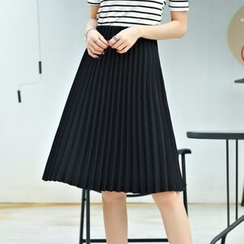 Cobogarden - Accordion Pleated A-line Skirt