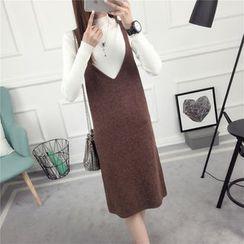 Loytio - Strappy Knit Midi Dress