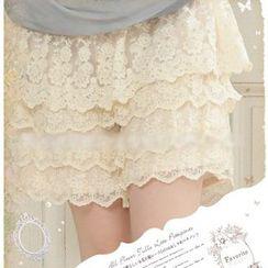 Nectarine - 蕾丝多层裙裤