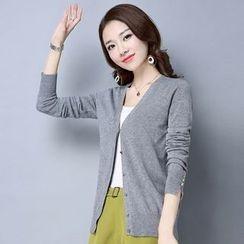 LANA - 针织衫女开衫短款2017春装新款女式小外套韩版宽松空调衫小披肩
