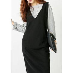 REDOPIN - Sleeveless Pocket-Detail Dress