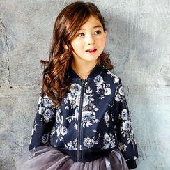 Cuckoo - Kids Floral Print Neoprene Jacket