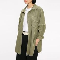Heynew - 散边长袖衬衫
