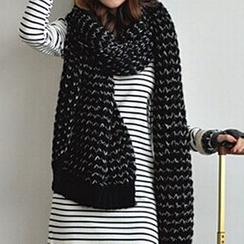 Rita Zita - 混色針織圍巾