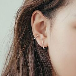 True Glam - Non-matching Bar Earrings