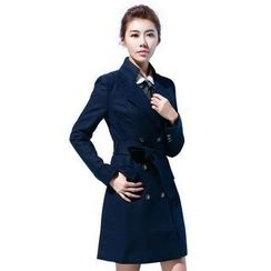 Aision - Wool Blend Double-Breasted Coat