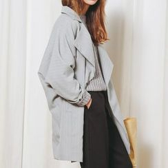 Iscat - Pinstriped Oversized Trench Coat