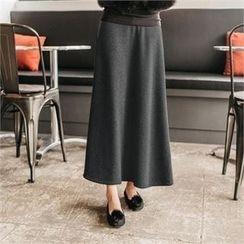 JOAMOM - Band-Waist Maxi Skirt