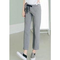REDOPIN - Drawstring-Waist Seam-Front Pants