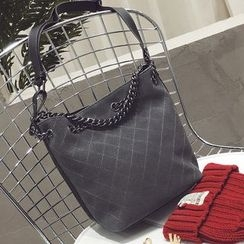 Nautilus Bags - Chain Strap Shoulder Bucket Bag With Zip Pouch