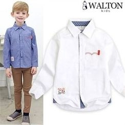 WALTON kids - Kids Stitched-Accent Shirt