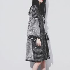 Sonne - Slit-Front Color-Block Knit Sweater