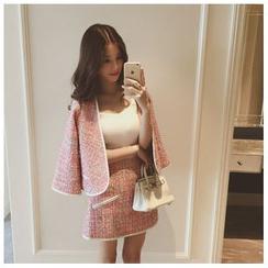 Ashlee - Set : Piped Jacket + Skirt