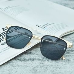 FaceFrame - Metal Brow Bar Square Sunglasses