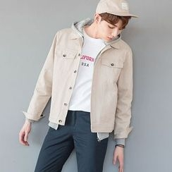 DANGOON - Collared Metal-Button Jacket