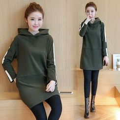 EFO - Long-Sleeve Hooded Long Top