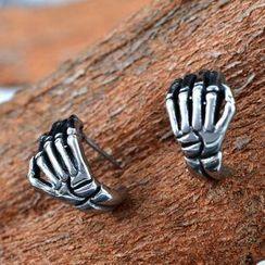 潮野 - 骷髏手耳環