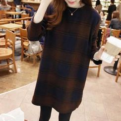 Dowisi - Plaid Shift Dress