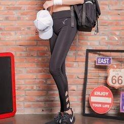 Giorno - Cutout Cuff Workout Leggings