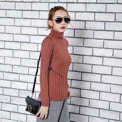 Sonne - Turtleneck Ribbed-Knit Top