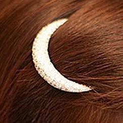 Cheermo - Rhinestone Crescent Hair Clip