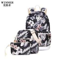 VIVA - Set: Floral Backpack + Crossbody Bag + Pouch