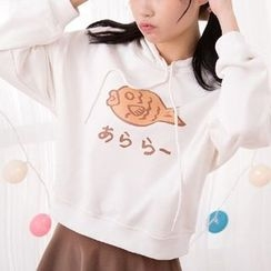Fairyland - Fish Print Cropped Hoodie