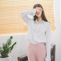 WITH IPUN - Plain Pinstriped Shirt