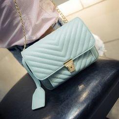 Secret Garden - Chain Flap Shoulder Bag