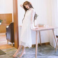 Grazia - Long-Sleeve Lace Dress