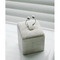Reflower - 球细节银戒指
