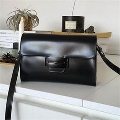 QNIGIRLS - Faux-Leather Shoulder Bag
