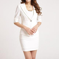 Caroe - Set: Slim-Fit Blazer + Pencil Skirt