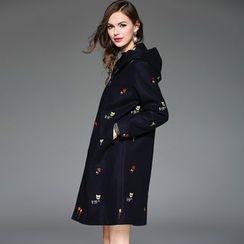 Queen Mulock - Embroidered Hooded Coat