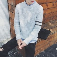 Simsam - Striped Cable Knit Sweater