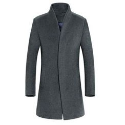 Cipher - Plain Woolen Coat