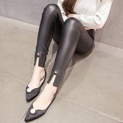 Ashlee - Faux Leather  Leggings