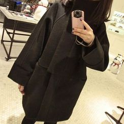 OTTI - Stand Collar Long Coat