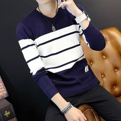 Breeson - Striped Long Sleeve Knit Top