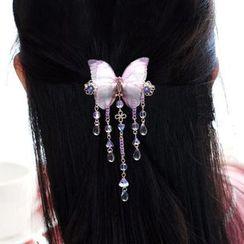 Paparazzi - Flower Dangling Hair Clip / Hair Stick