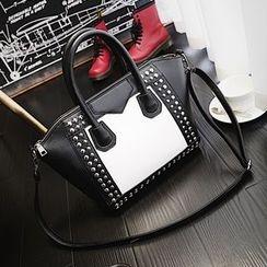 Beloved Bags - 鉚釘拼接手提包