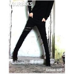 Gurbaks - 拉鏈窄身牛仔褲