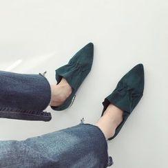 Linda Lane - Pointy-Toe Low-Heel Shoes