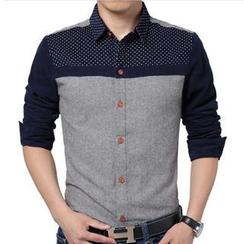 Gurun Vani - 灯芯绒拼接衬衫