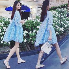 Ceres - Maternity Lace A-Line Dress