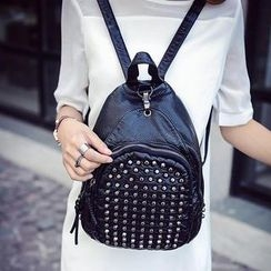 Bibiba - Studded Faux Leather Backpack
