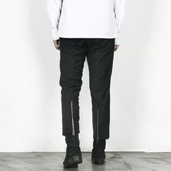 Remember Click - Zip-Accent Cropped Pants
